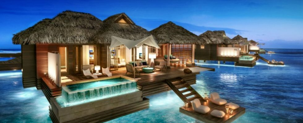 d78465f3c6e39a 5 Overwater Bungalows to Open at Sandals Royal Caribbean - Caribbean ...