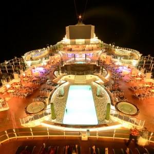 Luxury Caribbean Cruise Ship Deck