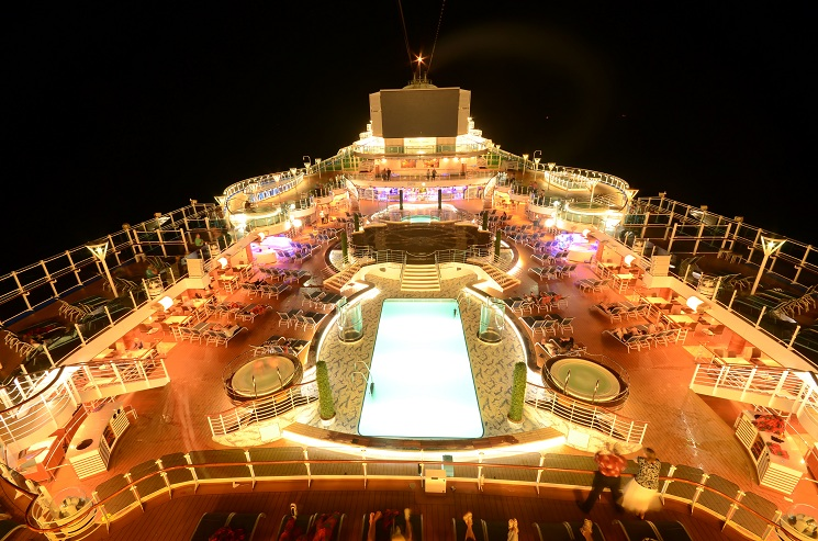 Luxury Caribbean Cruise Ship Deck