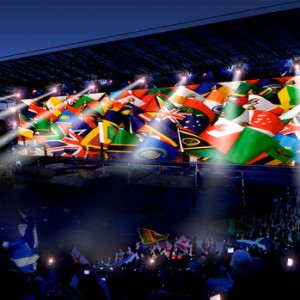 Commonwealth Games: Glasgow 2014 flags
