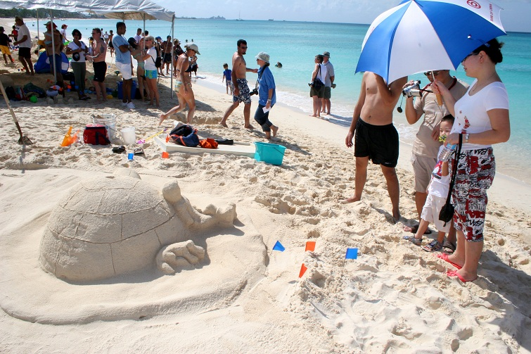 Cayman Islands: Seven Mile Beach - Sand Sculpting On Seven Mile Beach