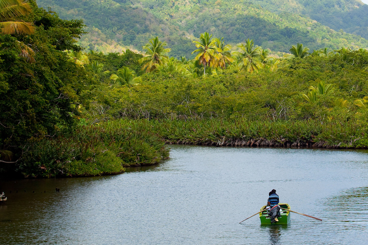 Dominica: Canoe on Indian River. Photo Credit: © Discover Dominica Authority.