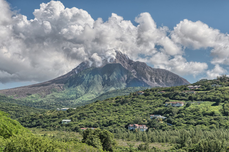 Least Visited Caribbean Islands - Montserrat: Soufrière Hills Volcano. Photo Credit: ©Derek Galon via Montserrat Tourism Division.