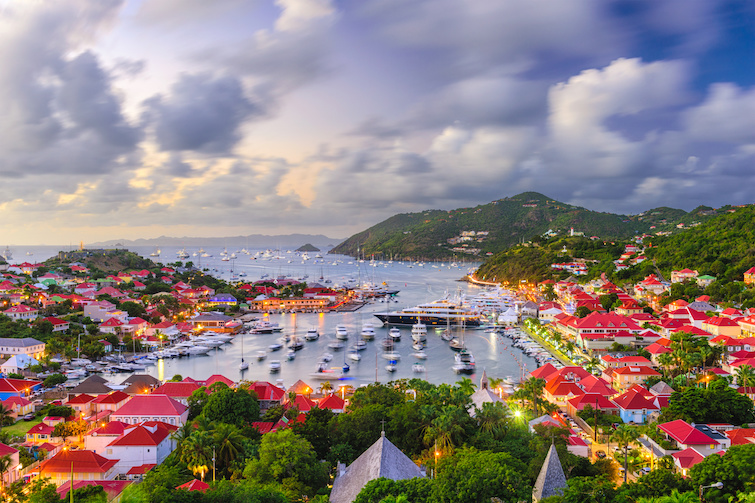 Saint Barthelemy: skyline and Gustavia Harbour. Photo Credit: © Sean Pavone/ Adobe.