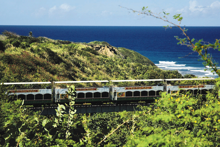 Saint Kitts: A view of the scenic 'sugar' railway. Photo Credit: © St Kitts Tourism Authority.