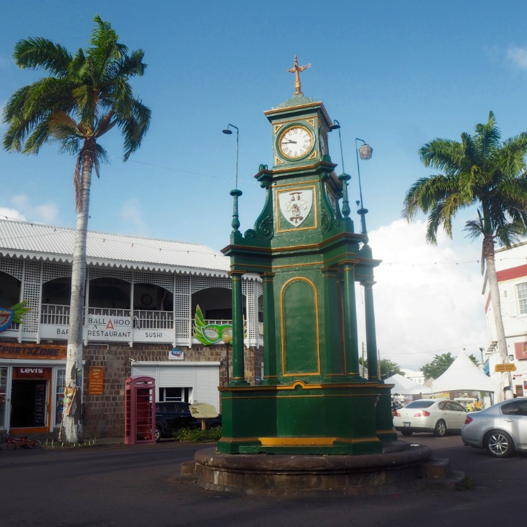 St Kitts: Berkeley Memorial Clock. Photo Credit: © Ursula Petula Barzey.