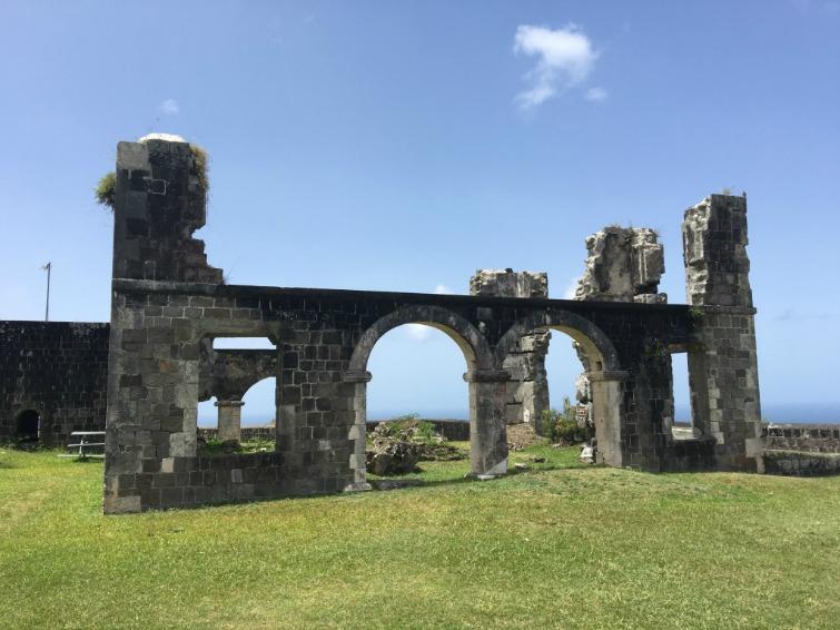 St Kitts: Brimstone Hill Fortress National Park - Artillery Officers' Quarters. Photo Credit: © Ursula Petula Barzey.