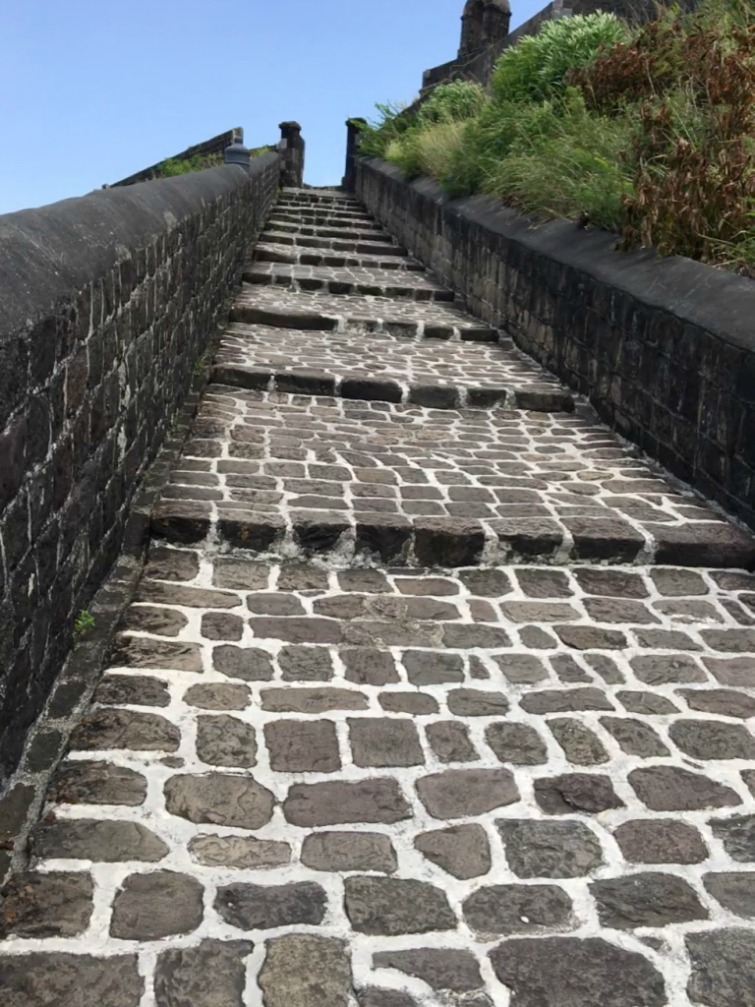 St Kitts: Brimstone Hill Fortress National Park - Entrance Ramp. Photo Credit: © Ursula Petula Barzey.