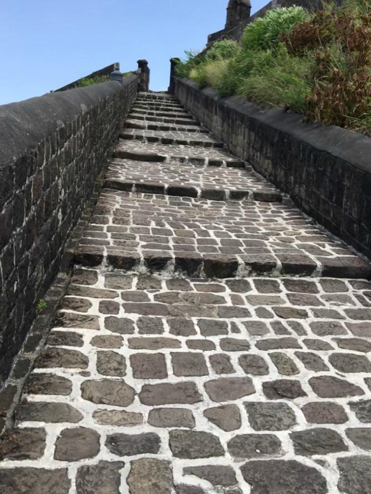 St Kitts: Brimstone Hill Fortress National Park - Entrance Ramp. Photo Credit: © Ursula Petula Barzey.