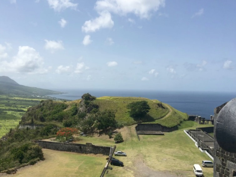 St Kitts: Brimstone Hill Fortress National Park - View of Monkey Hill. Photo Credit: © Ursula Petula Barzey.