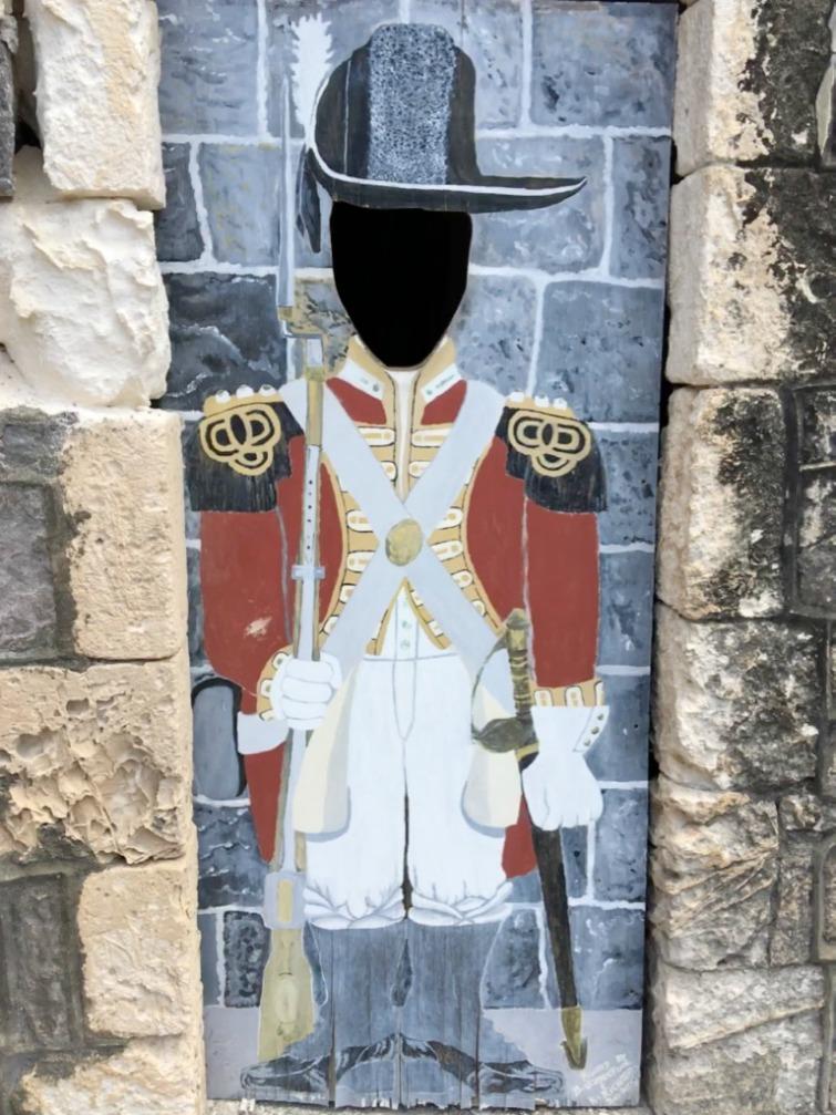 St Kitts: Brimstone Hill Fortress National Park - Soldier Uniform. Photo Credit: © Ursula Petula Barzey.