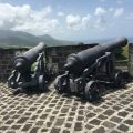 St Kitts: Brimstone Hill Fortress National Park - Two Cannons. Photo Credit: © Ursula Petula Barzey.