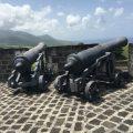 St Kitts: Brimstone Hill Fortress National Park - Two Cannons. Photo Credit: © Ursula Petula Barzey.