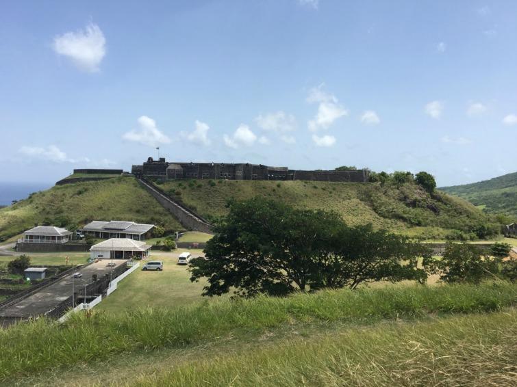 St Kitts: Brimstone Hill Fortress National Park - View from Monkey Hill. Photo Credit: © Ursula Petula Barzey.