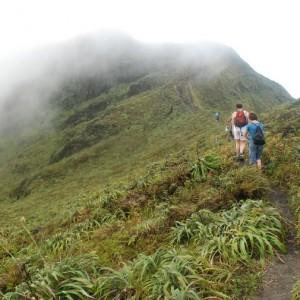Hiking La Soufriere Volcano