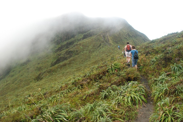 Hiking La Soufriere Volcano
