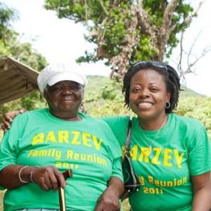 "Barzey Family Reunion in Montserat: Dorothy ""Nenen"" Allen & Ursula Petula Barzey"
