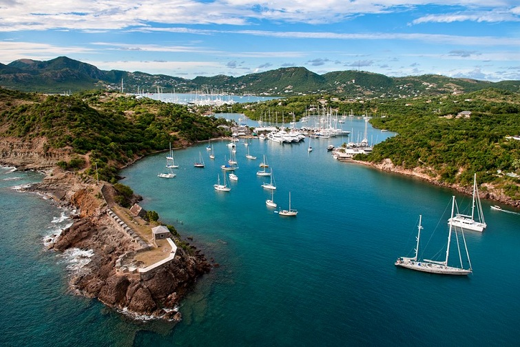 Antigua & Barbuda: A view of UNESCO World Heritage Nelson's Dockyard National Park.
