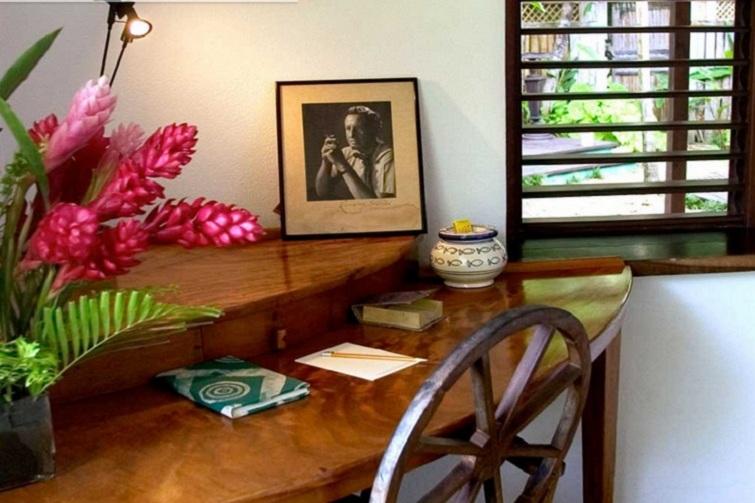 Goldeneye House:  Ian Fleming's desk where he wrote James Bond novels.
