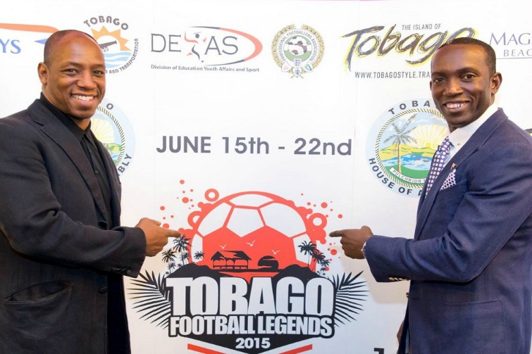 Tobago Football Legends 2015: Ian Wright & Dwight Yorke