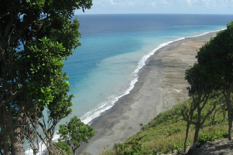 Montserrat: New beach created from volcanic ash