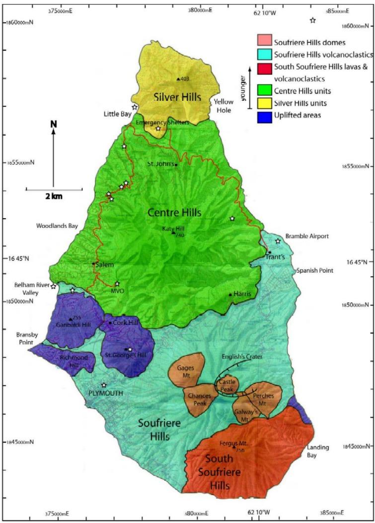 Visiting Montserrats Soufrière Hills Volcano Caribbean Co - Montserrat map