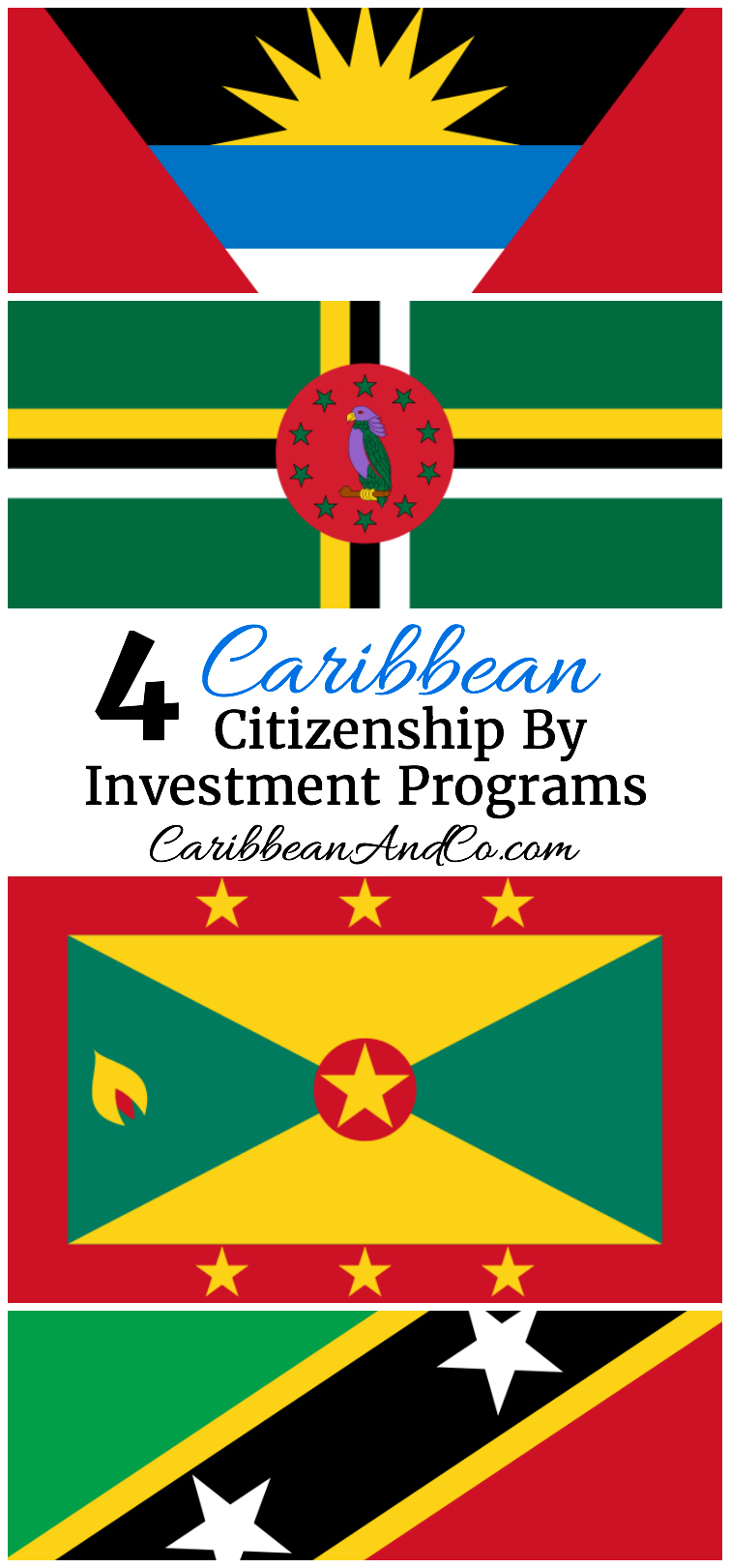 Looking to acquire a second passport for greater personal, economic and travel freedom?  Consider one of these 4 Citizenship By Investment Programs in the Caribbean.
