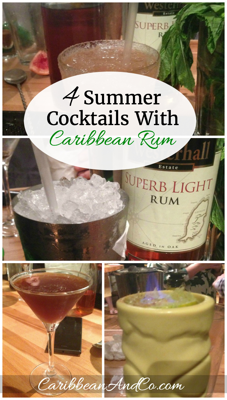 Summer is the perfect season for cocktails made with Caribbean rum. Here are 4 cocktail recipes using rum from the beautiful Caribbean island of Grenada.