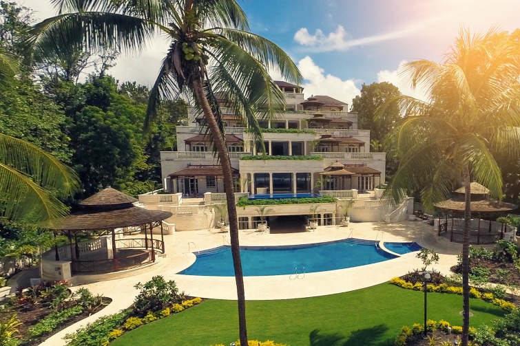 Barbados: Palazzate, a 75,000 sq ft luxury beachfront mansion.