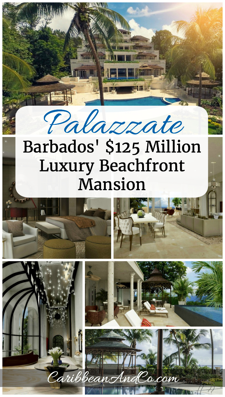 Located in the Barbados Riviera, Palazzate currently being marketed for US$125millions is the ultimate Caribbean beachfront mansion with over the top luxurious features and amazing sea views.