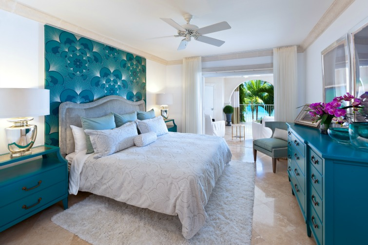 Saint Peter Bay: Beachfront Home - Oceanview Master Bedroom