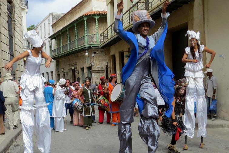 Cuba - Carnival style parade in Havana.