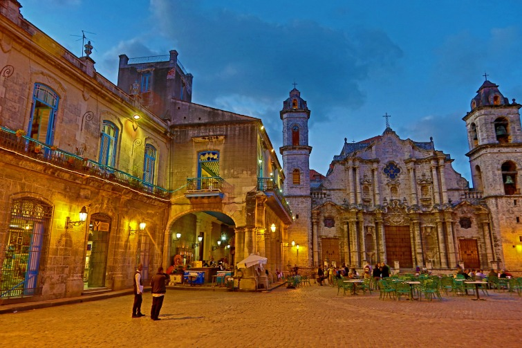 Cuba - Cathedral of The Virgin Mary of the Immaculate Conception in Plaza de la Catedral, Havana.