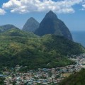 Saint Lucia - Aerial View - Piton Mountains