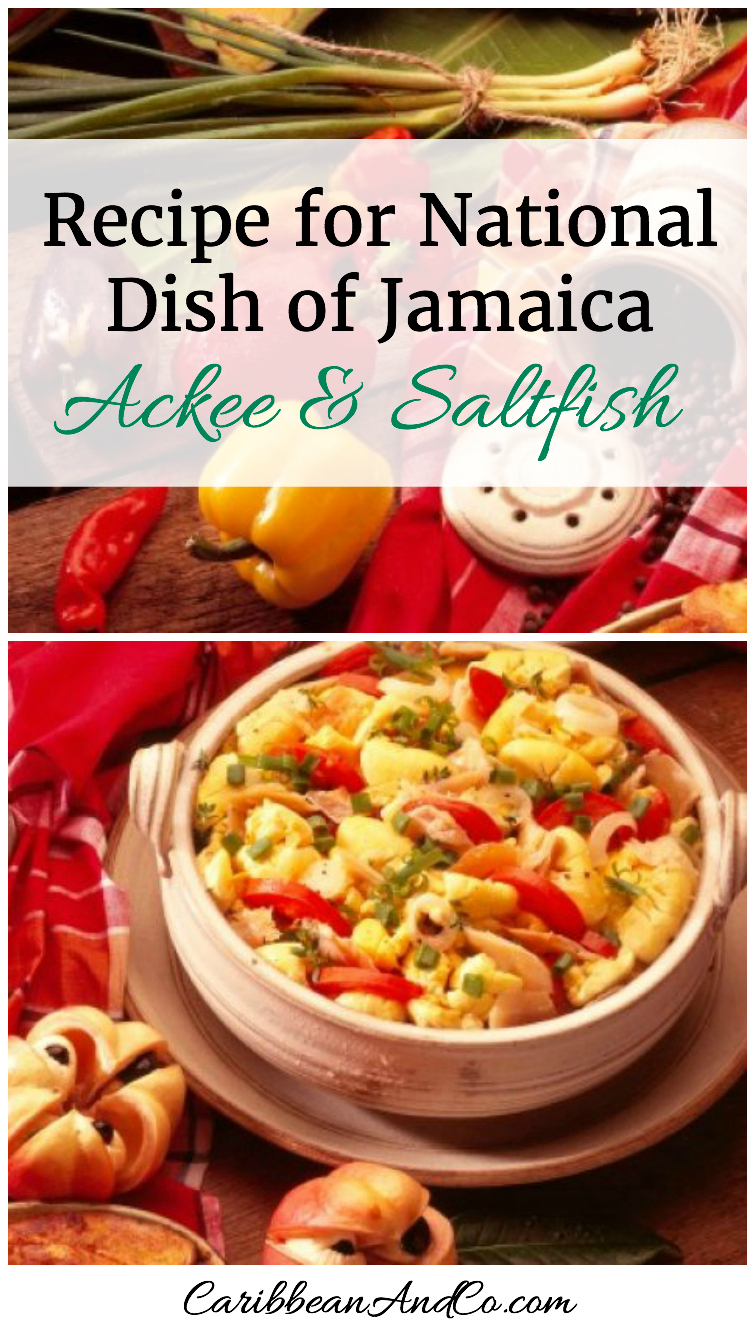 "Check out the recipe for national dish of Jamaica - Ackee And Saltfish from Jamaican sisters Suzanne Rousseau and Michelle Rousseau, who are former restaurateurs and award-winning caterers. They are now producers and culinary hostesses for the web series ""Island Potluck"" which was created in conjunction with the Jamaica Tourist Board. They are also the authors of Caribbean Potluck – Modern Recipes from Our Family."