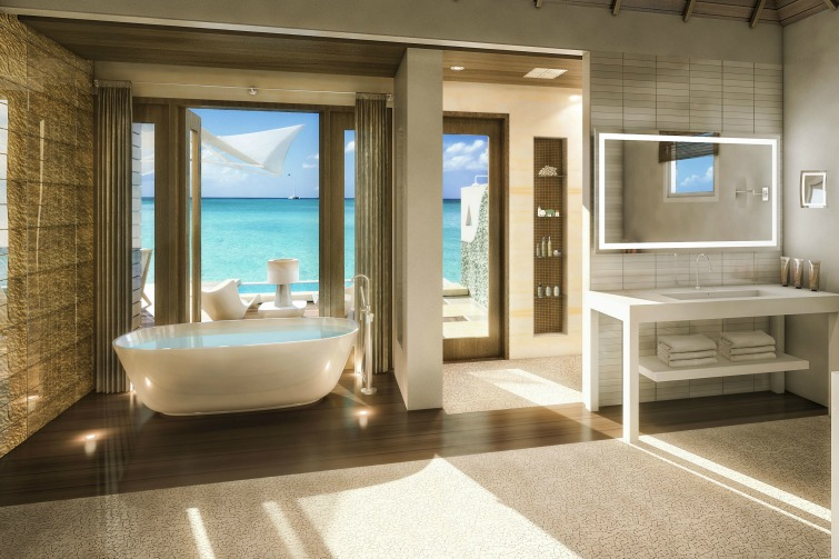 Sandals Royal Caribbean: Overwater Bungalow - Bathroom. Photo Credit: ©Sandals Resorts International.
