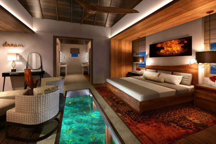 Sandals Royal Caribbean: Overwater Bungalow - Bedroom. Photo Credit: ©Sandals Resorts International.