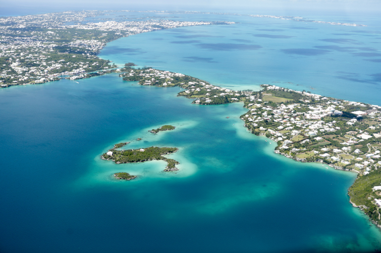 Bermuda - Aerial View. Photo Credit: ©Bermuda Tourism Authority.