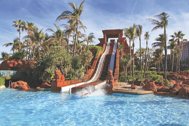 The Bahamas - The water slide structure in Paradise Island. Photo Credit: ©Vlad G/Shutterstock.com.