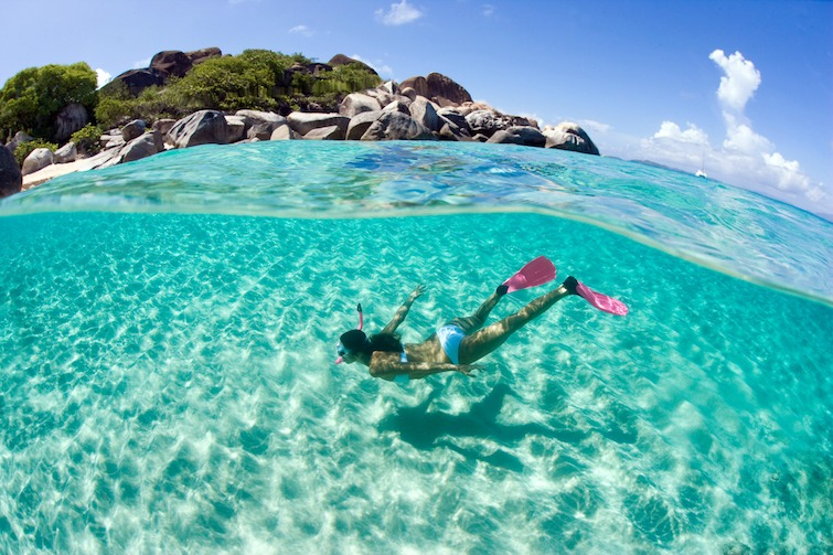 Woman-Swimming-in-the-Caribbean