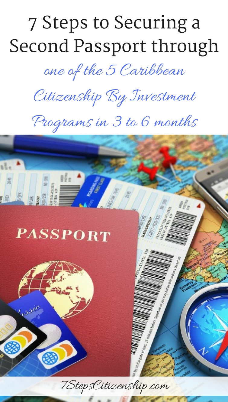 7 Steps to Securing a Second Passport through one of the 5 Caribbean Citizenship By Investment Programs in 3 to 6 months