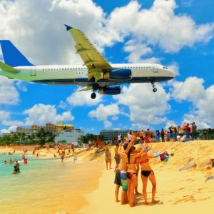 St. Maarten: Maho Beach. Photo Credit: © Solarisys / Adobe.