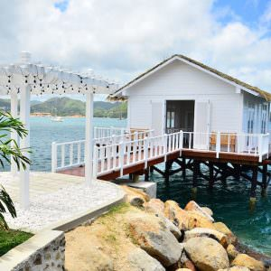 Sandals Grande St. Lucian: Exterior of Over The Water Serenity Chapel