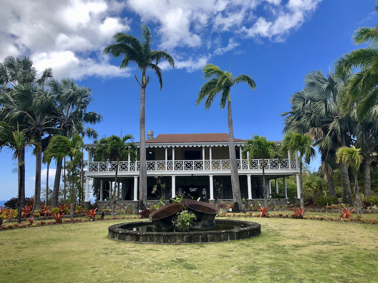 Great house at Botanical Garden of Nevis.