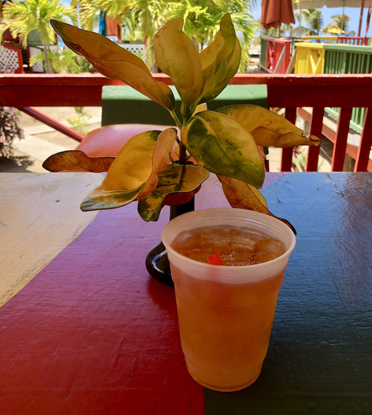 Killer Bee Rum Punch from Sunshine's Beach Bar in Nevis.