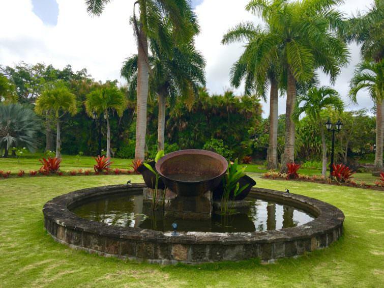 Nevis: Botanical Gardens, Historic Copper Kettles