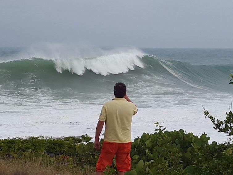 Anguilla: Increasing waves from Hurricane Irma.