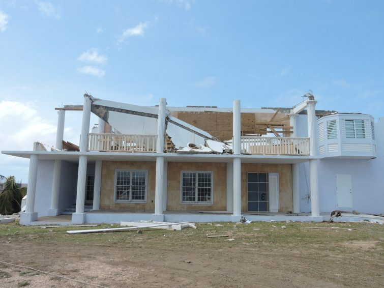 Anguilla: Property damaged from Hurricane Irma.