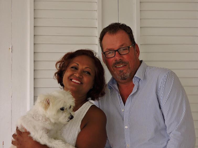 Anguilla: Vidya, Ralph & dog Victory.