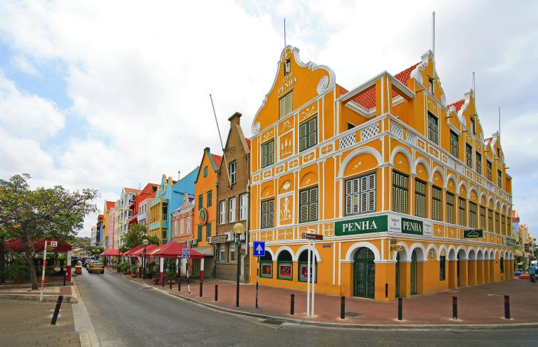 Curacao: Daytime view of picturesque Willemstad